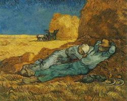 Vincent-van-gogh-noon-rest-from-work-1890